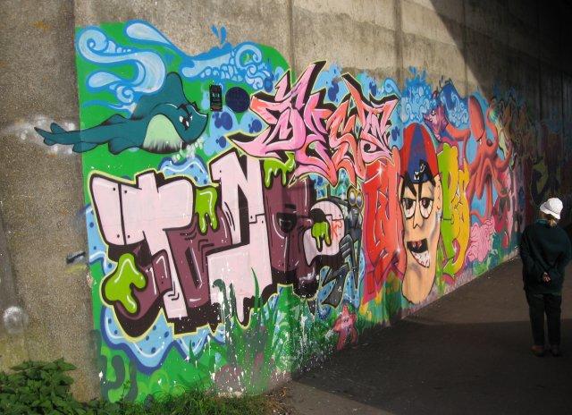 Flyover graffiti