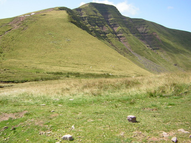 Footpath erosion on Pen y Fan