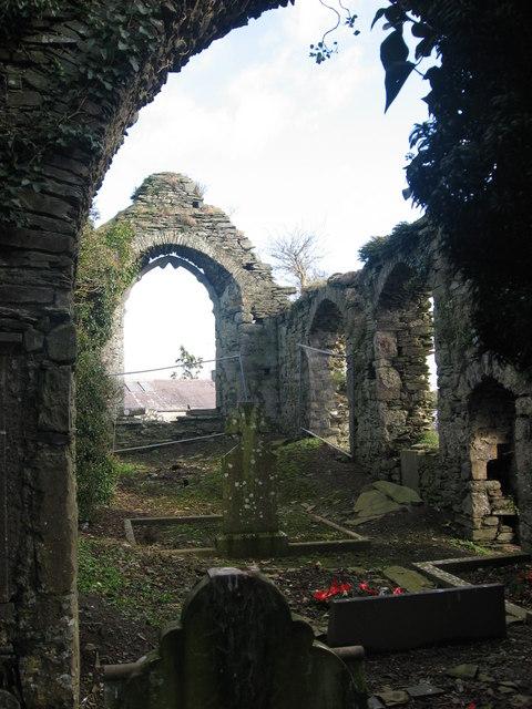 Interior of medieval church, Ardcath