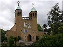 TQ1289 : Catholic church of St Luke, Pinner by David Kemp