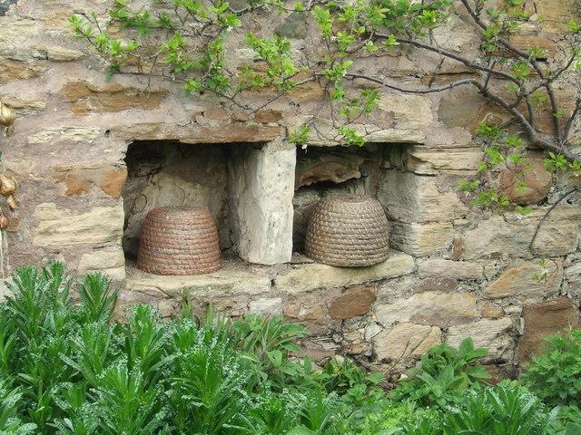 Bee boles, Kellie Castle garden