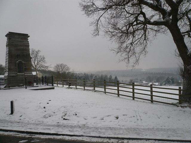 Bream Cenotaph and beyond in winter