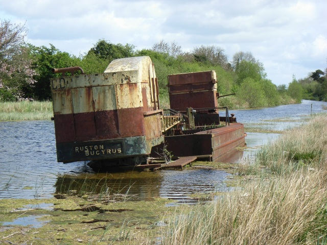 Abandoned barge on the Royal Canal at Croboy, Co. Meath