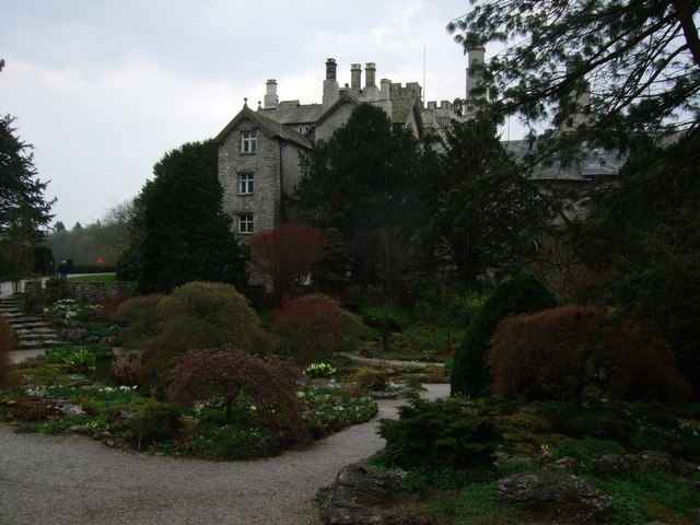 Sizergh Castle and rock garden