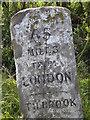 TL0870 : Milestone inscription, Tilbrook by Michael Trolove