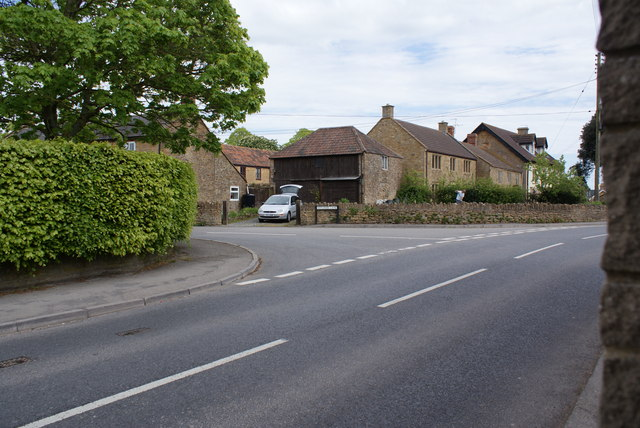 Junction of Witcombe Lane and Main Street, Ash