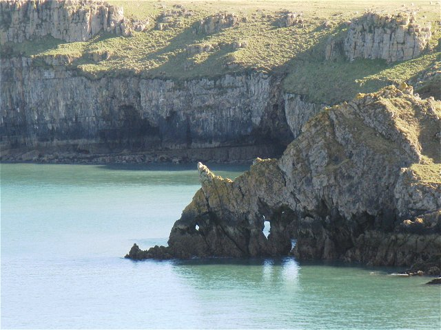 Natural arches near Barafundle Bay