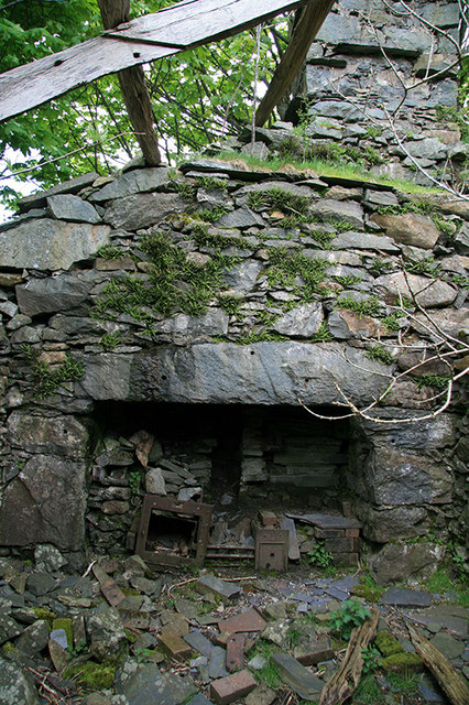 Old kitchen in a ruined house