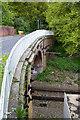 SU5608 : Weak Railway Bridge on Funtley Road by Peter Facey