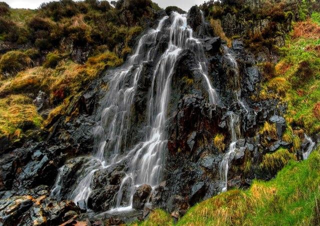Small Waterfall On Well Burn