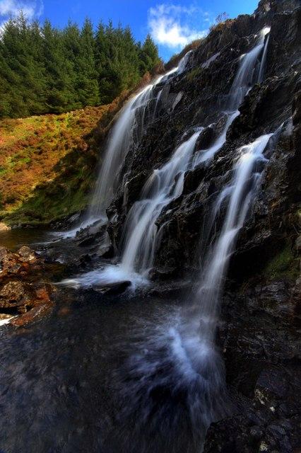 Waterfall On White Laggan Burn