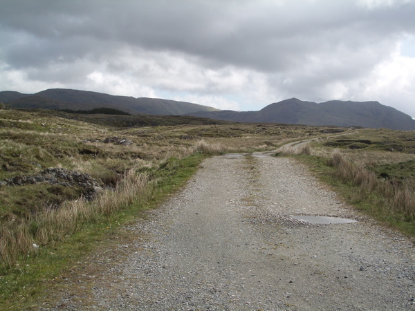 Track off the Lough Inagh road