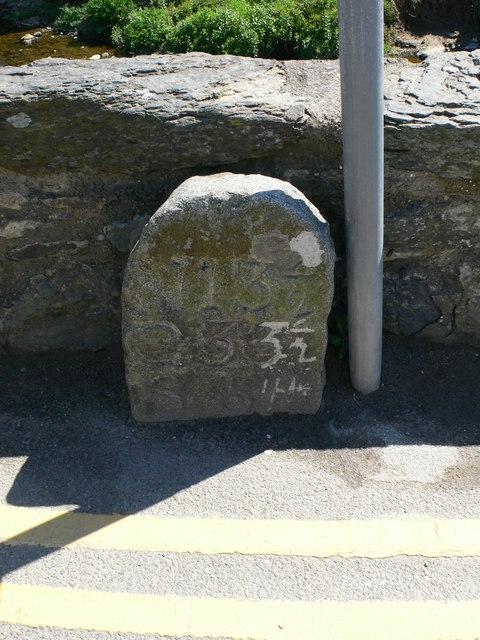 Milestone at Aberdaron