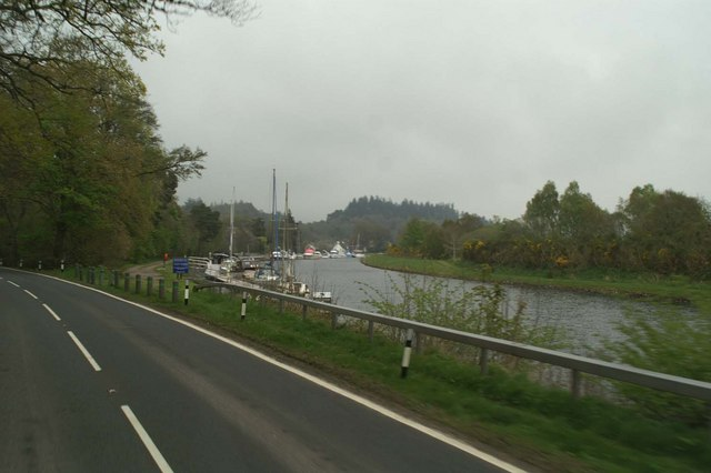 Moorings on the Caledonian Canal beside the A82 by David Long