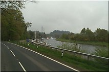 NH6140 : Moorings on the Caledonian Canal beside the A82 by David Long