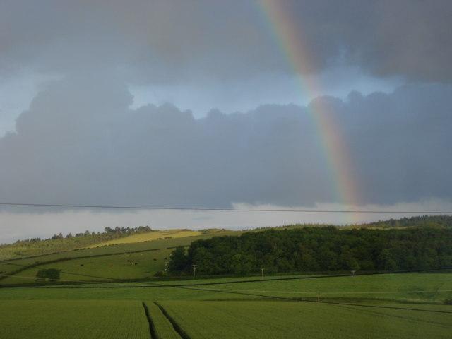 Rainbow over The Kyloe Hills