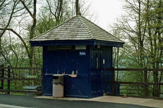 Public convenience at Wakebridge, Crich Tramway Village