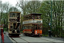 SK3455 : Sheffield 74 & Glasgow 22 passing at Wakebridge on the Crich Tramway by P L Chadwick