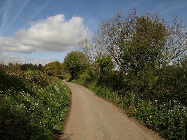 Lane near Blackingstone Farm