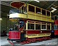 SK3454 : Chesterfield tram No. 7 at Crich Tramway Village by P L Chadwick