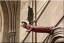 TQ2479 : St John the Baptist Church, Holland Road, London W14 - Nave angel by John Salmon