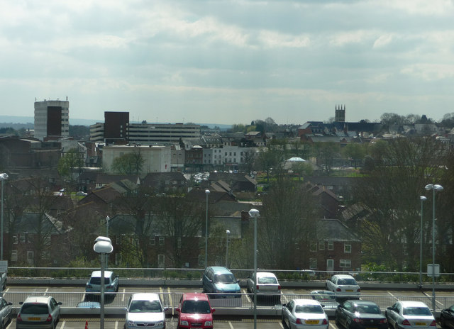 Looking south from the Aldershot Centre for Health