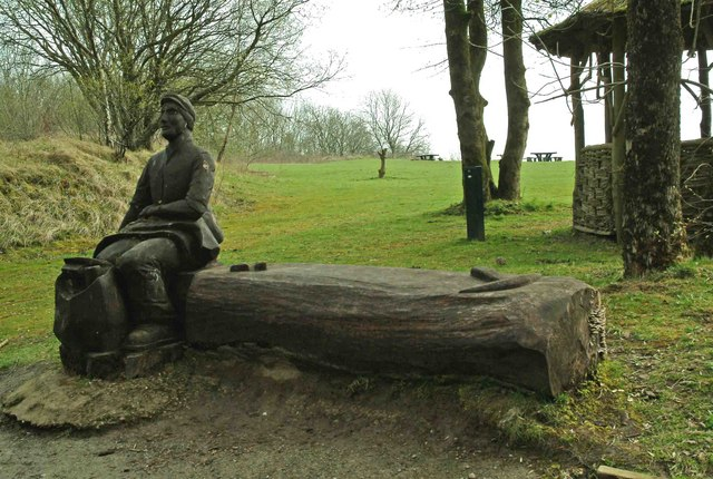 Quarry Man on Bench, Crich Tramway Village