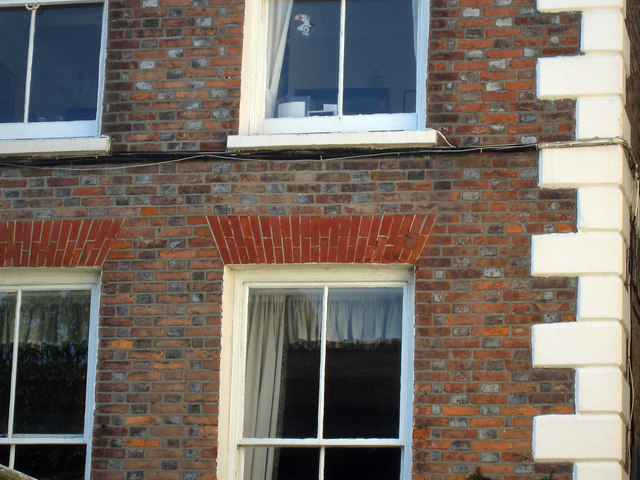 Brick detail on Old Hastings House