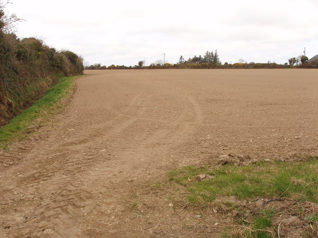 Ploughed field near Castlesow