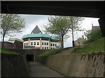 SH4862 : The Penllyn Multi-storey Car Park from the underpass by Eric Jones