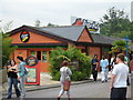 TQ0368 : Pizza Hut at Thorpe Park by Given Up