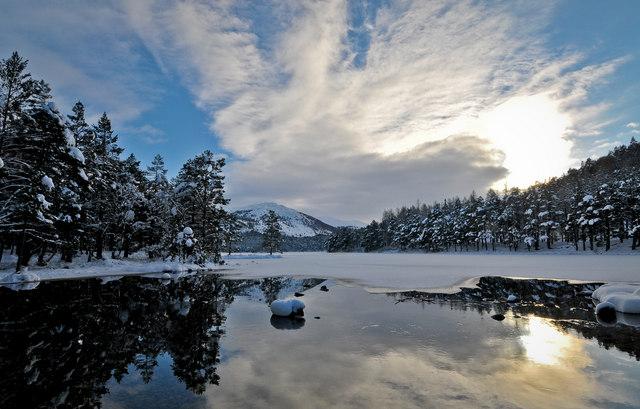 Loch An Eilein in Winter