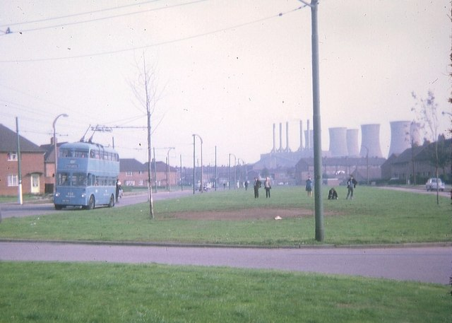 Walsall trolleybus at Leamore