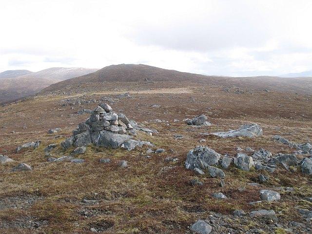 The summit, Creag Riabhach