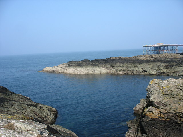 Cove and jetty at Wylfa Nuclear Power Station