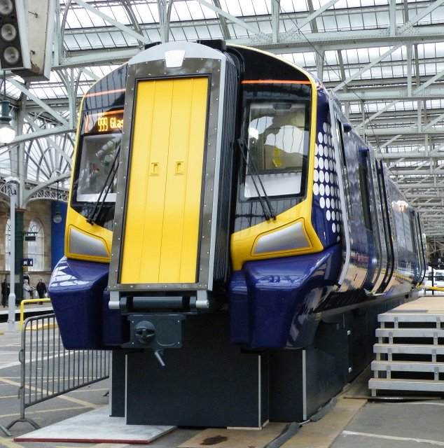 New train mock-up at Glasgow Central