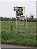 S9805 : Shamrock symbol shows approved accommodation, near Kilmore by David Hawgood