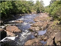 NM6947 : River Aline near Kinlochaline Castle by Peter Bond