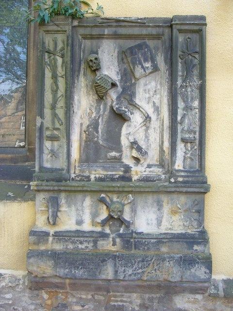 17thC tombstone, Greyfriars Kirk
