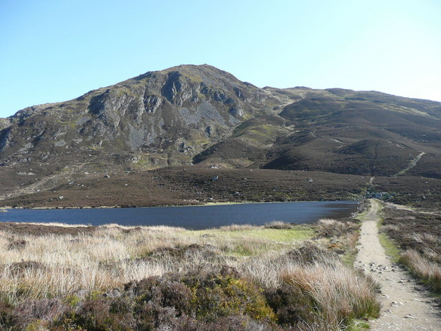 Loch a' Choire and the screes of Ben Vrackie
