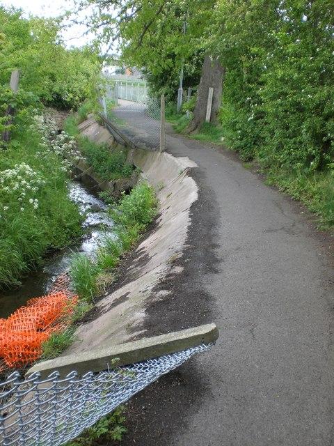 Dangerous path by stream