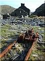 SH6646 : Rusty stuff at Rhosydd Quarry by Paul Glover