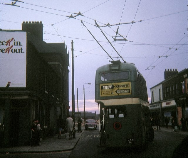 Trolleybus reversing at North Ormesby
