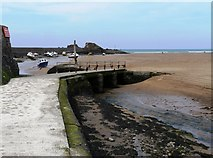 SS2006 : Footbridge, Summerleaze Beach, Bude by Tom Jolliffe