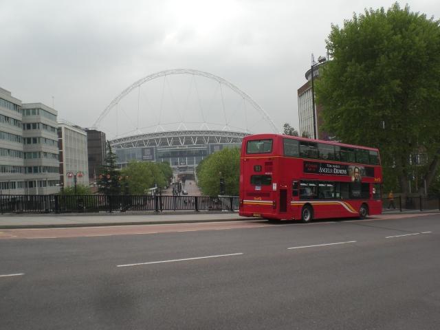 Wembley Stadium from Engineers Way bridge