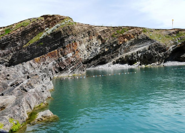 Tidal swimming pool, Summerleaze beach, Bude