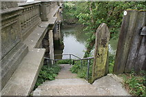 TM1543 : Steps down from Princes Street bridge to the Gipping by Oxymoron