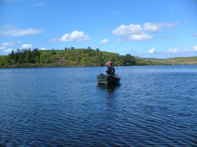 Fishing on Loch Skerrols - Isle of Islay