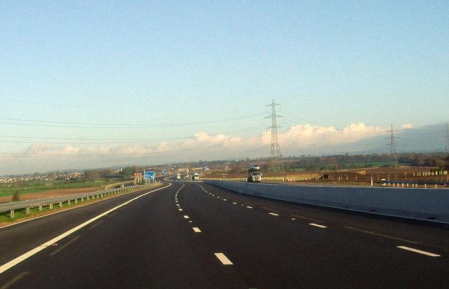 M6 motorway northbound.