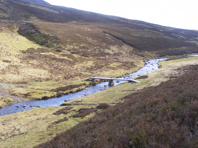 Footbridge at Loch Errochty